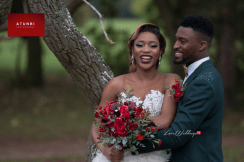 Christmas Winter Styled Shoot - Bride and Groom Reception Outfit Portrait UK Wedding Vendors Atunbi LoveWeddingsNG